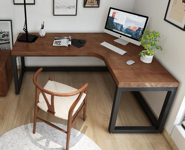 网吧转角电脑桌图片